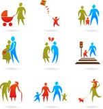 Siluette della famiglia - 2 Immagine Stock Libera da Diritti