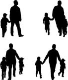 Siluette della famiglia - illustrazione Fotografie Stock
