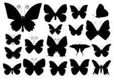 Siluette della farfalla Immagini Stock Libere da Diritti