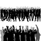 Siluette della folla Fotografia Stock Libera da Diritti