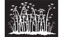 Siluette della foresta di bambù Immagine Stock Libera da Diritti