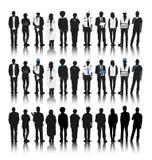 Siluette della gente con le varie occupazioni Fotografia Stock Libera da Diritti
