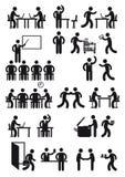 Siluette della gente del posto di lavoro royalty illustrazione gratis