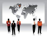 Siluette della gente di affari,   royalty illustrazione gratis