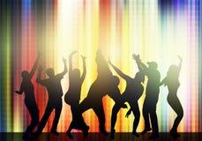 Siluette della gente di dancing Fotografia Stock Libera da Diritti