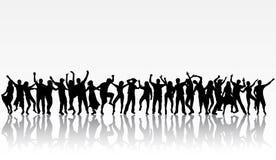 Siluette della gente di dancing Immagine Stock Libera da Diritti
