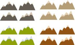 Siluette della montagna Immagine Stock