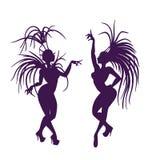 Siluette della regina attraente della samba Fotografia Stock