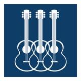 Siluette delle chitarre acustiche illustrazione vettoriale