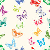 Siluette delle farfalle Fotografia Stock