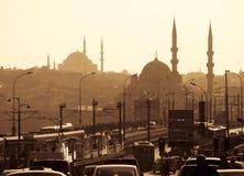 Siluette delle moschee Immagini Stock Libere da Diritti