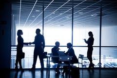 Siluette delle persone di affari Immagine Stock Libera da Diritti