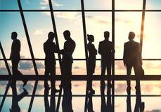 Siluette delle persone di affari Immagini Stock