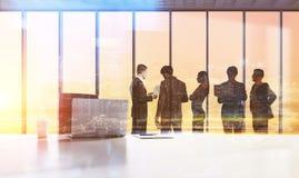 Siluette delle persone di affari, concetto di lavoro di squadra Fotografia Stock Libera da Diritti