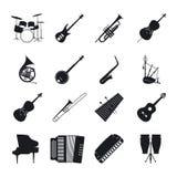 Siluette dello strumento musicale di jazz illustrazione di stock