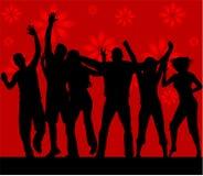 Siluette di ballo Immagine Stock Libera da Diritti