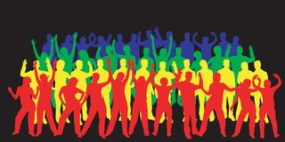 Siluette di dancing immagini stock