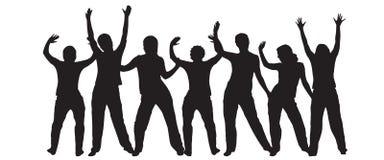 Siluette di Dancing illustrazione vettoriale