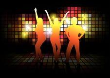 Siluette di dancing Fotografia Stock Libera da Diritti