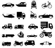 Siluette di traffico di trasporto del veicolo fotografia stock libera da diritti
