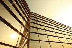 Siluette di vetro moderne Fotografie Stock