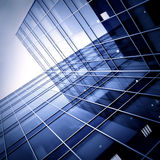 Siluette di vetro moderne dei grattacieli Immagini Stock