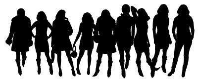 Siluette di vettore delle donne royalty illustrazione gratis