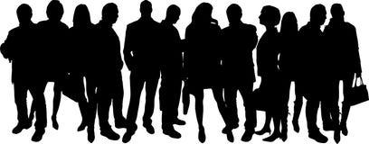 Siluette di vettore delle persone di affari Immagine Stock Libera da Diritti
