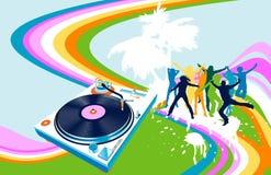 Siluette e Rainbow illustrazione di stock