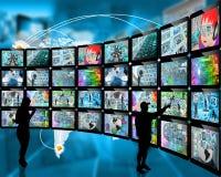 Siluette e schermi Immagine Stock Libera da Diritti