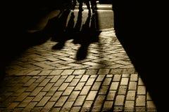 Siluette ed ombre della gente Fotografia Stock