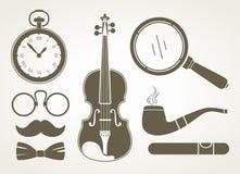 Retro accessori dell'agente investigativo Fotografia Stock