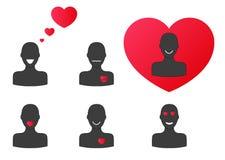 Siluette nell'amore Royalty Illustrazione gratis