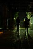 Siluette nella notte Fotografia Stock