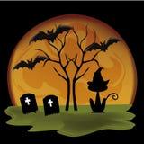 Siluette per Halloween Immagine Stock Libera da Diritti