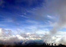 Siluette sul Mt. Washington Immagini Stock Libere da Diritti