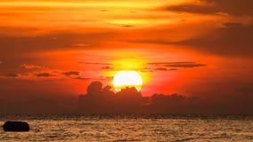 Siluette of Sunset at chonburi,thailand in summer Stock Photos