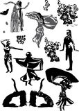 Siluette tradizionali del dencer royalty illustrazione gratis