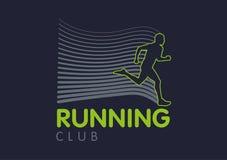 Siluette traslucide di Logo Templates di correre della gente Immagini Stock Libere da Diritti