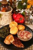 Siluro y pollo de Cajun Imagen de archivo libre de regalías