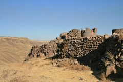 Silustani. Tombs at the pre incan burial ground Silustani in Peru Stock Image