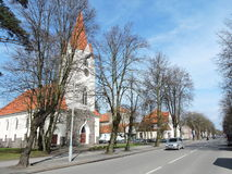 Silute镇,立陶宛 库存图片