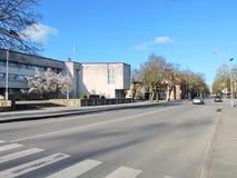 Silute镇,立陶宛 图库摄影