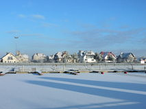 Silute Marina in winter, Lithuania Royalty Free Stock Image