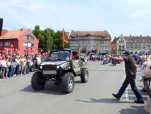 Silute miasteczko świętuje 507 rok istnienie dnia, Lithuania obraz royalty free
