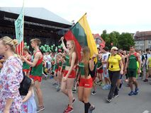 Silute town celebrate 507 years existence day, Lithuania Stock Photography