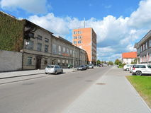 Silute town street , Lithuania Stock Photography
