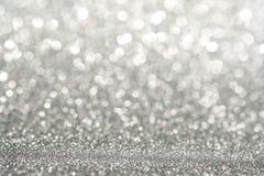 Silv efervescente de prata claro abstrato da luz do sumário da parede do brilho fotos de stock royalty free