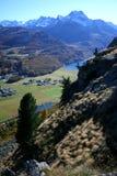 Silvaplana, Bergeller Berge Lizenzfreies Stockfoto