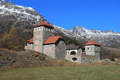 Silvaplana Castle near St. Moritz Stock Photography